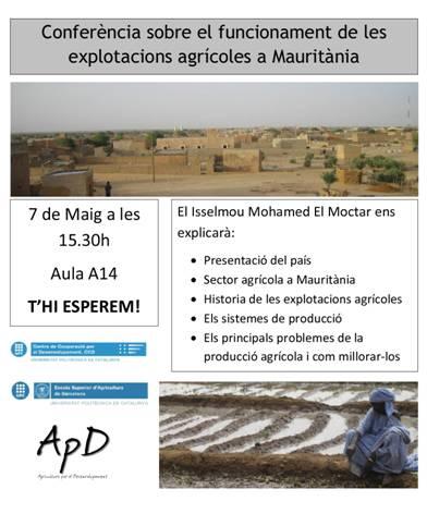 cartell conferència Mauritània