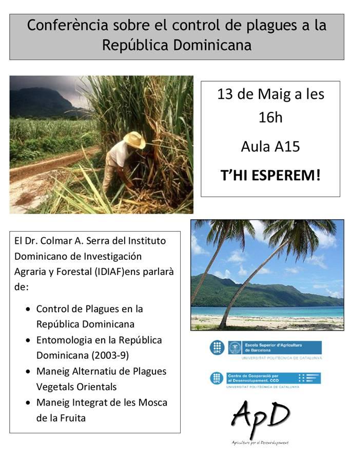 Conferència: Control de plagues a la República Dominicana