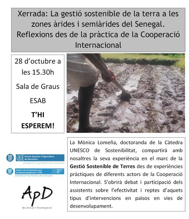 Conferència: Gestió Sostenible de la terra a les zones àrides i semiàrides del Senegal