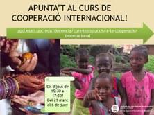 """Inici del curs """"Introducció a la Cooperació Internacional"""""""